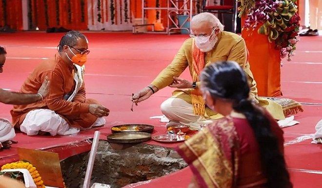 राम मंदिर निर्माण की आधारशिला रखने के बाद मोदी ने कहा: खत्म हुआ सदियों का इंतजार