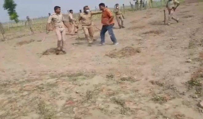 बलिया मामले में पांच हिरासत में, नौ पुलिसकर्मी निलंबित